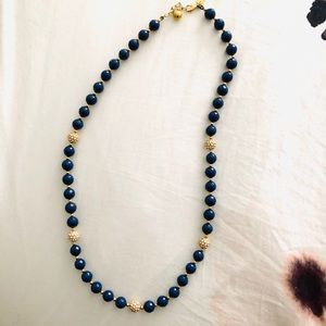 Kate spade Navy and rhinestone necklace